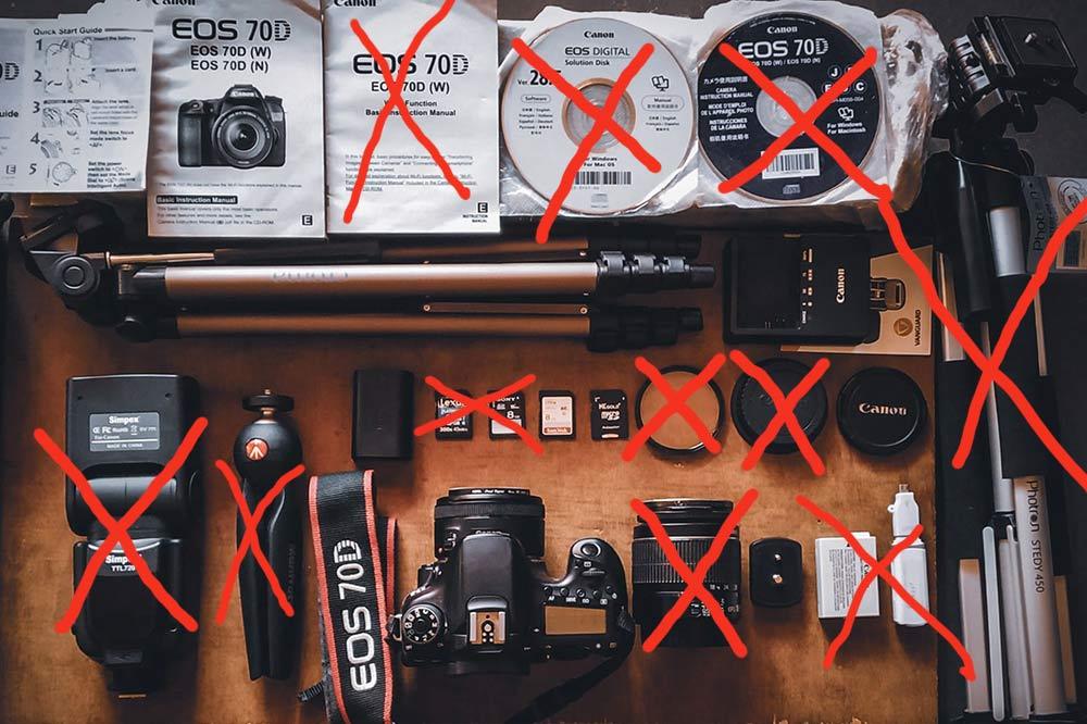 Weniger Foto-Equipment ist manchmal mehr