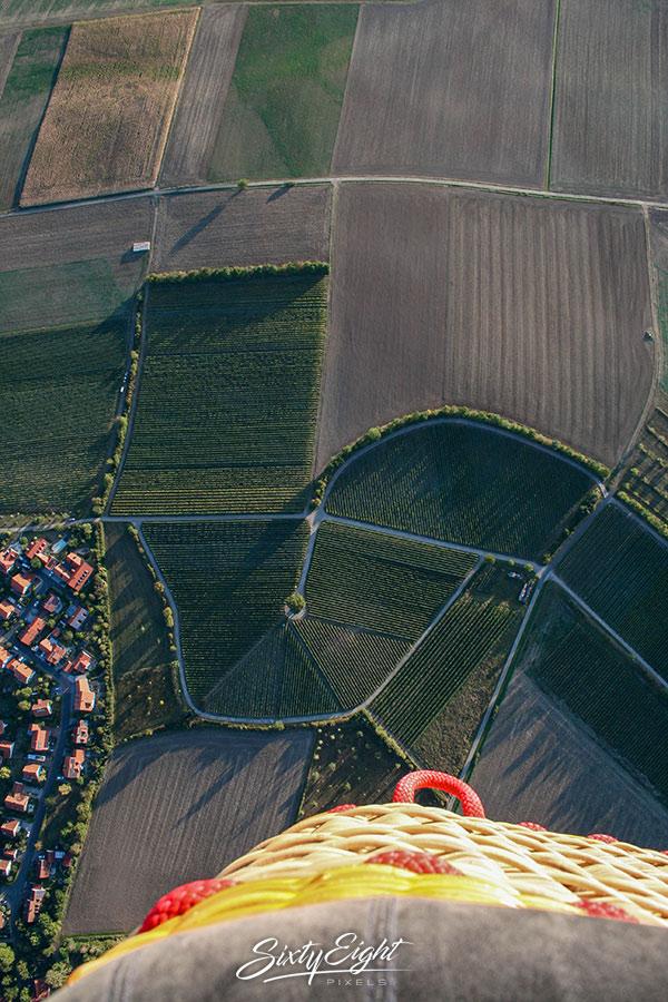 Ballonfahrt über den Steigerwald