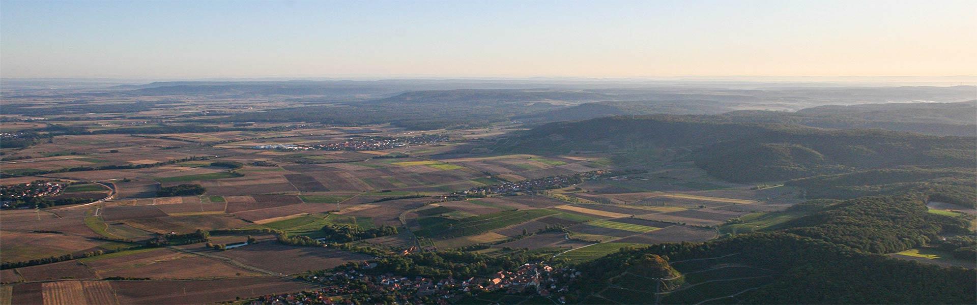 Luftbild Ballonfahrt Steigerwald