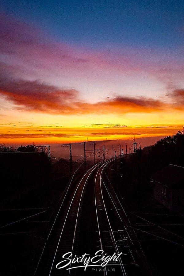 Gleise bis zum Horizont