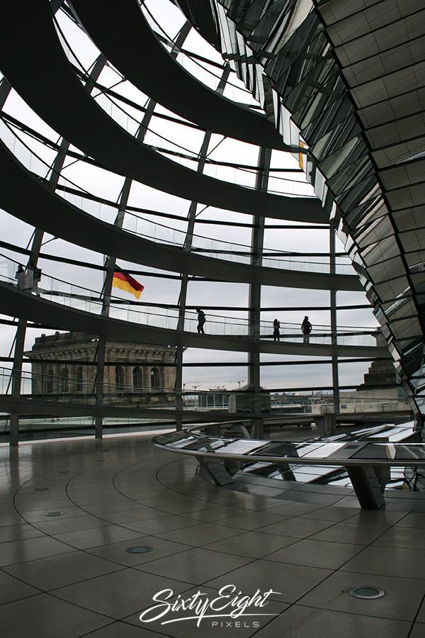 In der Kuppel des Bundestages