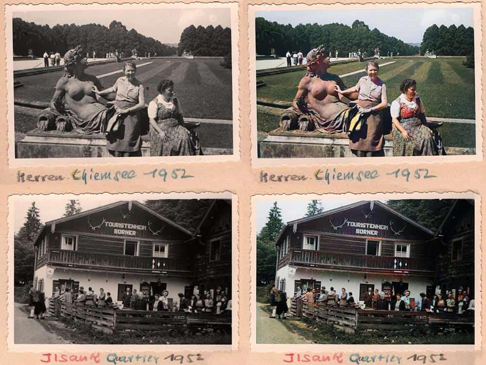 Urlaubs-Fotoalbum der 50er Jahre neu koloriert