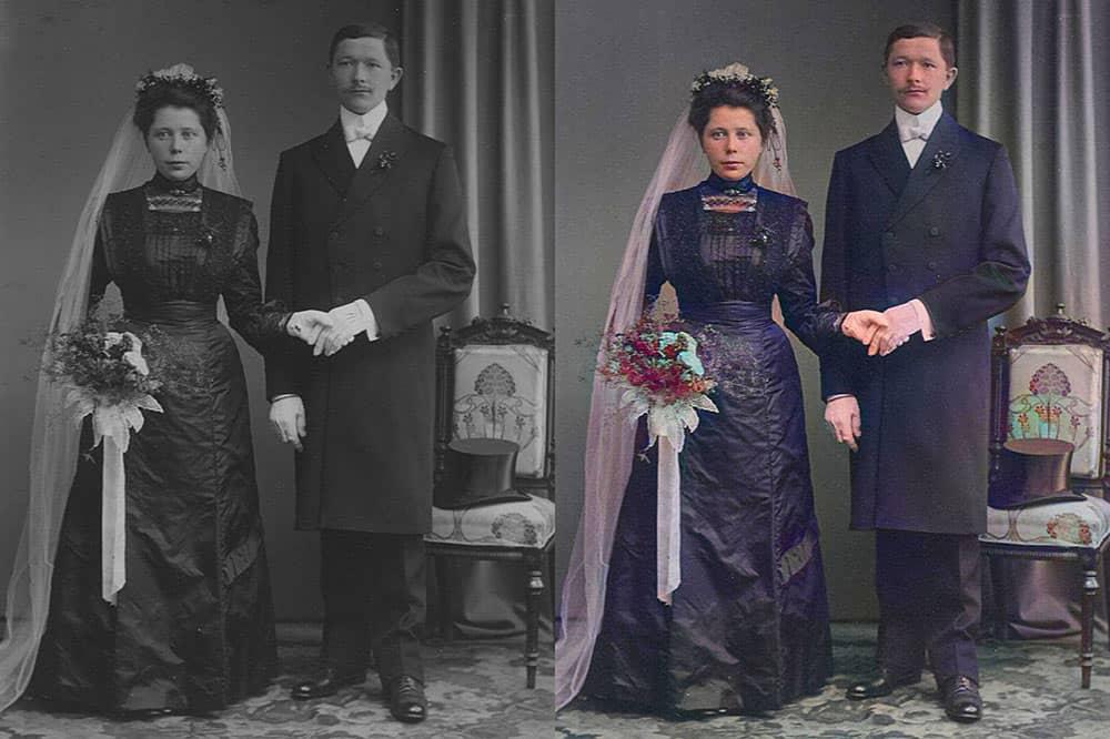 Schwarzweiß Fotos kolorieren