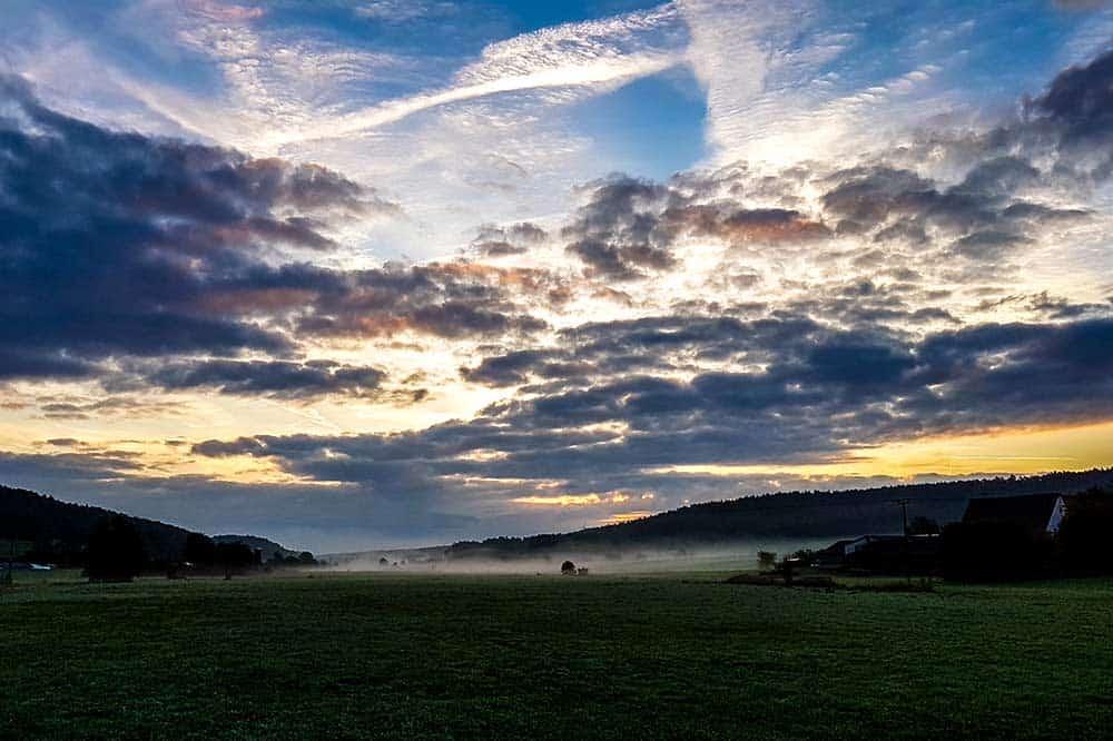 Besonders morgens ergeben sich herrliche Landschaftsmotive